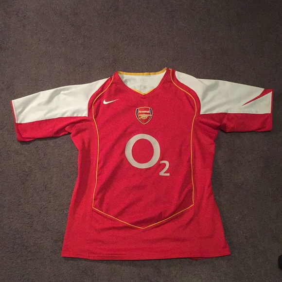 new arrival 42096 4d847 RARE Nike O2 Vintage Thierry Henry Arsenal Jersey
